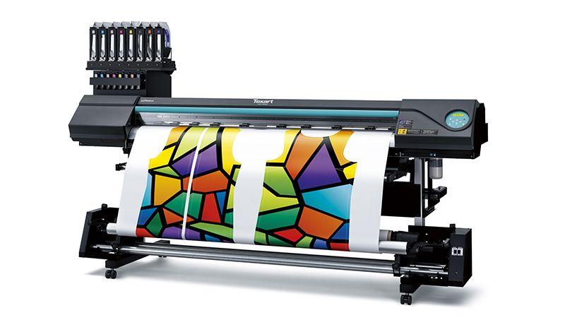 Dye Sublimation Εκτυπωτικό Roland με Πορτοκαλί και Βιολετί Μελάνι