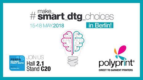 FESPA 2018 | Make smart DTG choices από την Polyprint