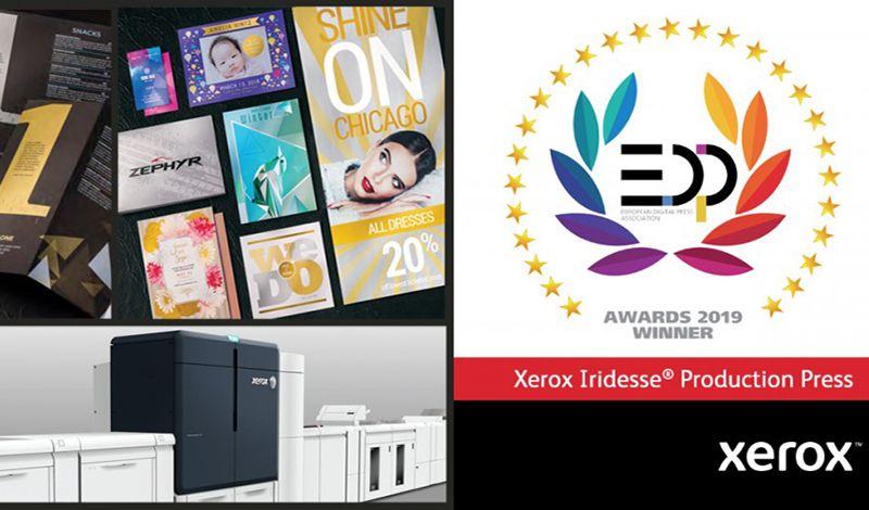 Η έγχρωμη ψηφιακή πρέσα Xerox® Iridesse™ κερδίζει το κορυφαίο βραβείο EDP για την καινοτομία στην ψηφιακή παραγωγή