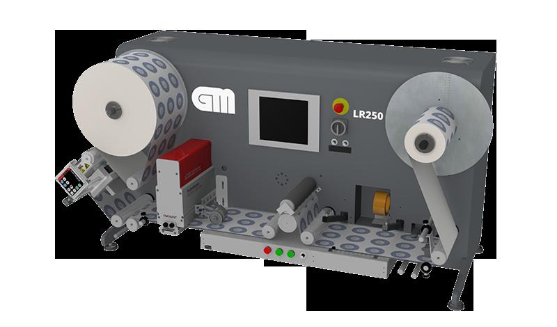 GM LR250: Νέο ανατυλικτικό ρολών ετικετών για επιθεώρηση με inkjet για αρίθμηση
